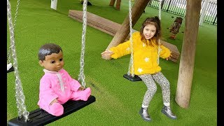 Fun Playground for Kids - Slide and Swing