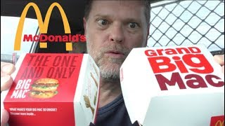 McDonald's GRAND Big Mac Versus Big Mac Comparison Review - Greg's Kitchen