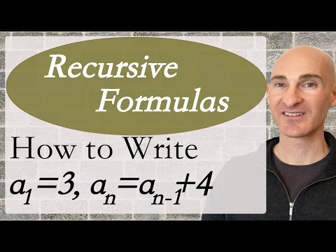 Recursive Formulas How To Write
