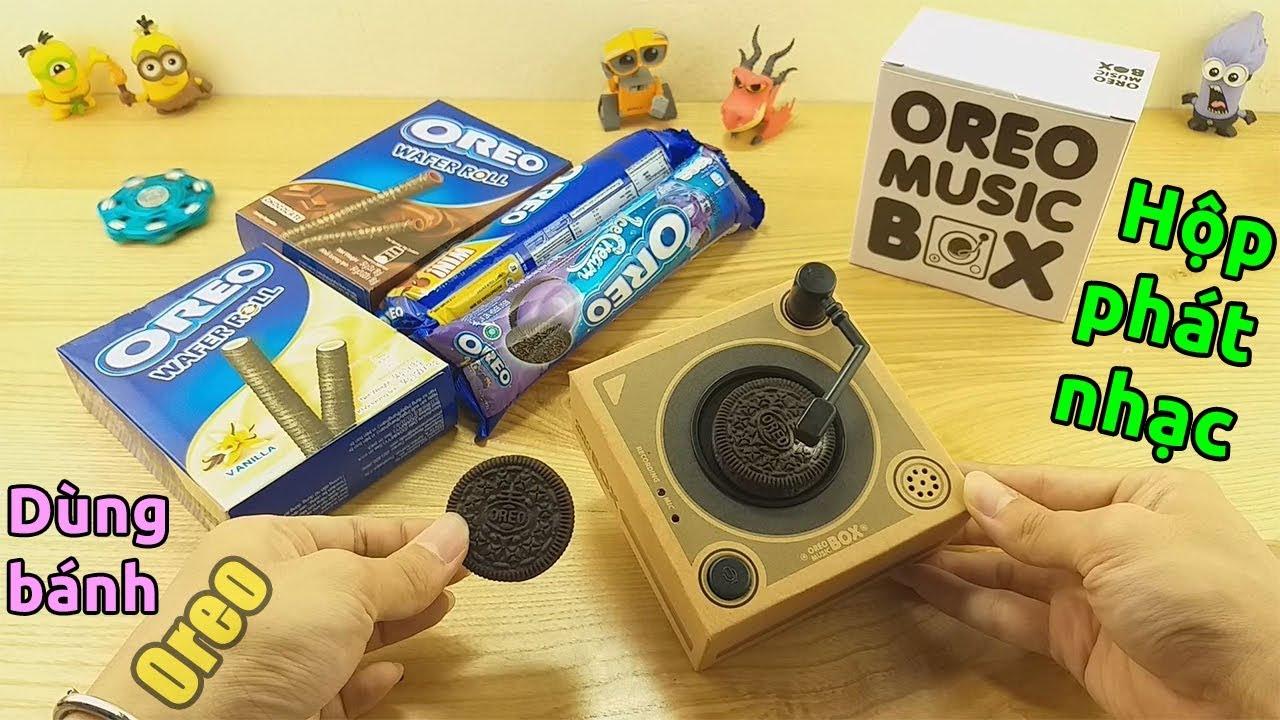 Trên tay hộp phát nhạc Oreo Music Box. Dùng bánh Oreo để phát nhạc?