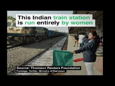 This Indian Railway Station fully managed by women staff .