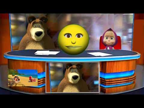 ( ͡° ͜ʖ ͡°) Маша и медведь. Машины сказки. ☺ КОЛОБОК ( ͡° ͜ʖ ͡°)