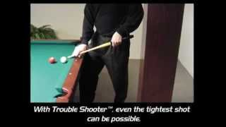 Trouble Shooter Short Pool Cue the original balanced and weighted short billiard cue
