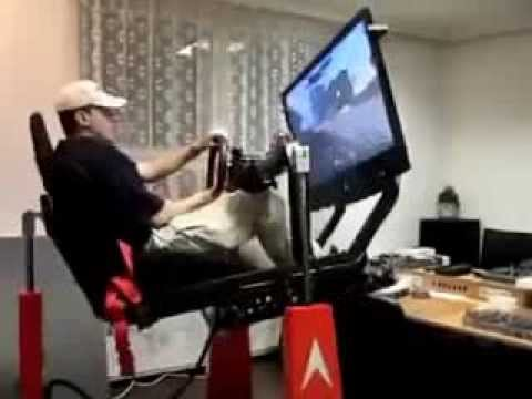 Hydraulic Racing Simulator Chair Diy Desk Covers Gaming With Hydraulics Youtube