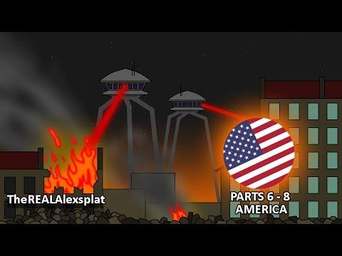 Pivot Alien Invasion Fight War Animation series 1 (Parts 6 - 8 - America)