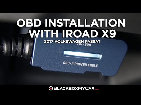 How To: Install an OBD Cable with an IROAD X9 | 2017 Volkswagen Passat | BlackboxMyCar
