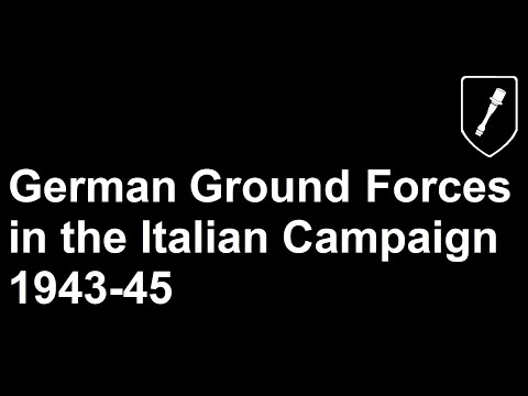 German Ground Forces in the Italian Campaign 1943-45 |