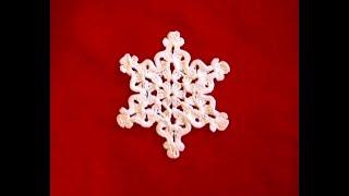 Снежинка крючком_3_Игрушки на елку крючком