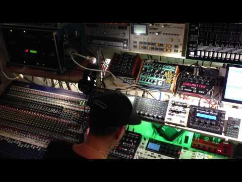 """housemeister recording his new track """"zombie"""" out now on Boysnoize records"""