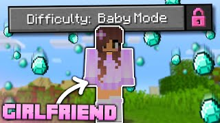 "My GIRLFRIEND Beat Minecraft in ""BABY MODE"" Difficulty!"