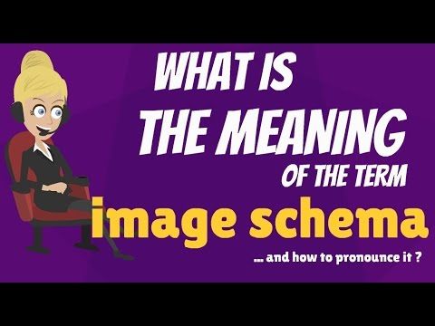 What is IMAGE SCHEMA? What does IMAGE SCHEMA mean? IMAGE SCHEMA meaning, definition & explanation