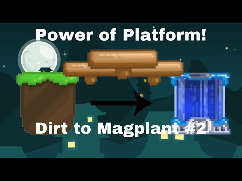 Power Of Platform! |Dirt To Magplant #2 |Growtopia