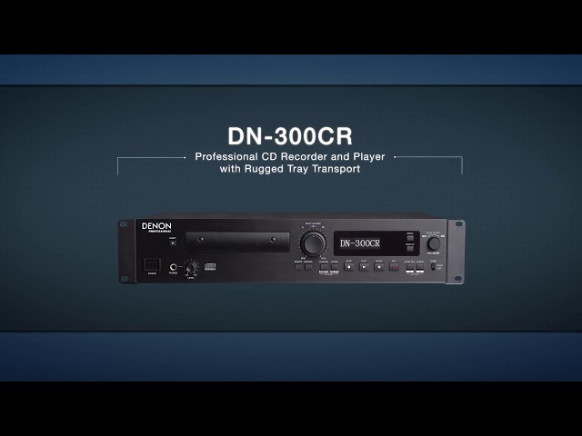 Denon Professional DN-300CR CD Recorder with Optical and S/PDIF