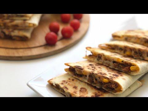 فطائر-الكسادياس-سهلة-و-تستحق-التجربة-تحضر-في-5دقائق-💥-quesadillas-à-la-viande-hachée-prête-en-5min