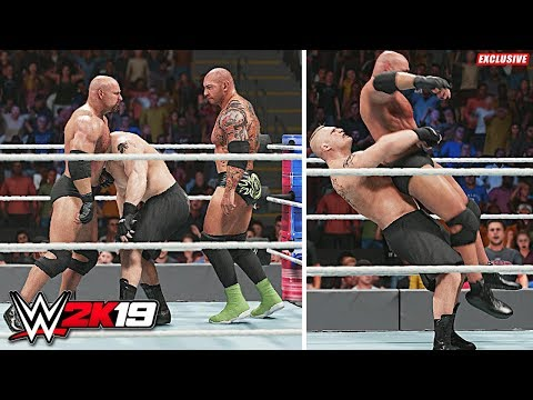 WWE 2K19 Exclusive - Brock Lesnar vs Batista vs Goldberg Table Match!!