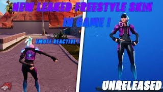 Fortnite | New Leaked Freestyle Skin Gameplay! Unreleased Skin *Emote Reactive* | Season X