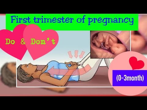 do-and-don't-in-first-trimester-of-pregnancy-|-0---3-months-pregnancy-care-&-warning-symptoms|anupa|
