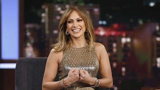 Jennifer Lopez  Hot Shiny Dress  Video - Jimmy Kimmel Live