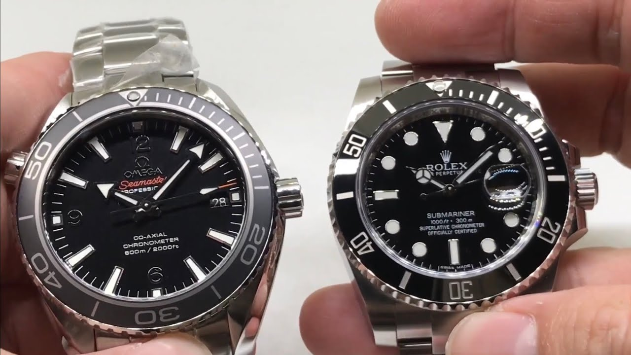 Omega Seamaster Planet Ocean 600M Co,Axial VS Rolex Submariner Date 116610LN