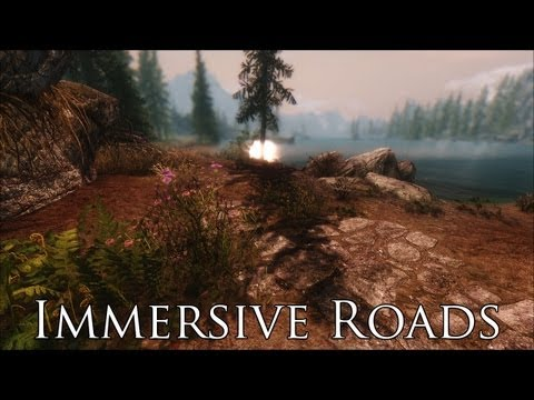 TES V - Skyrim Mods: Immersive Roads - YouTube