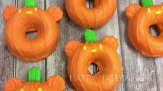 Halloween Mickey Pumpkin Donuts