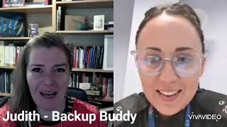 Chat with Judith to promote Backup Buddy
