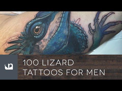 50 Iguana Tattoo Designs For Men – Reptile Ink Ideas