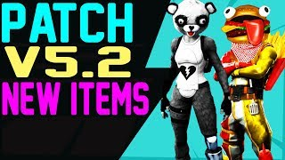 Fortnite Patch 5.2 NEW ITEMS COMING FUZZY PANDA, DURR BURGER Skins, Emotes, Back Bling, Gliders MORE