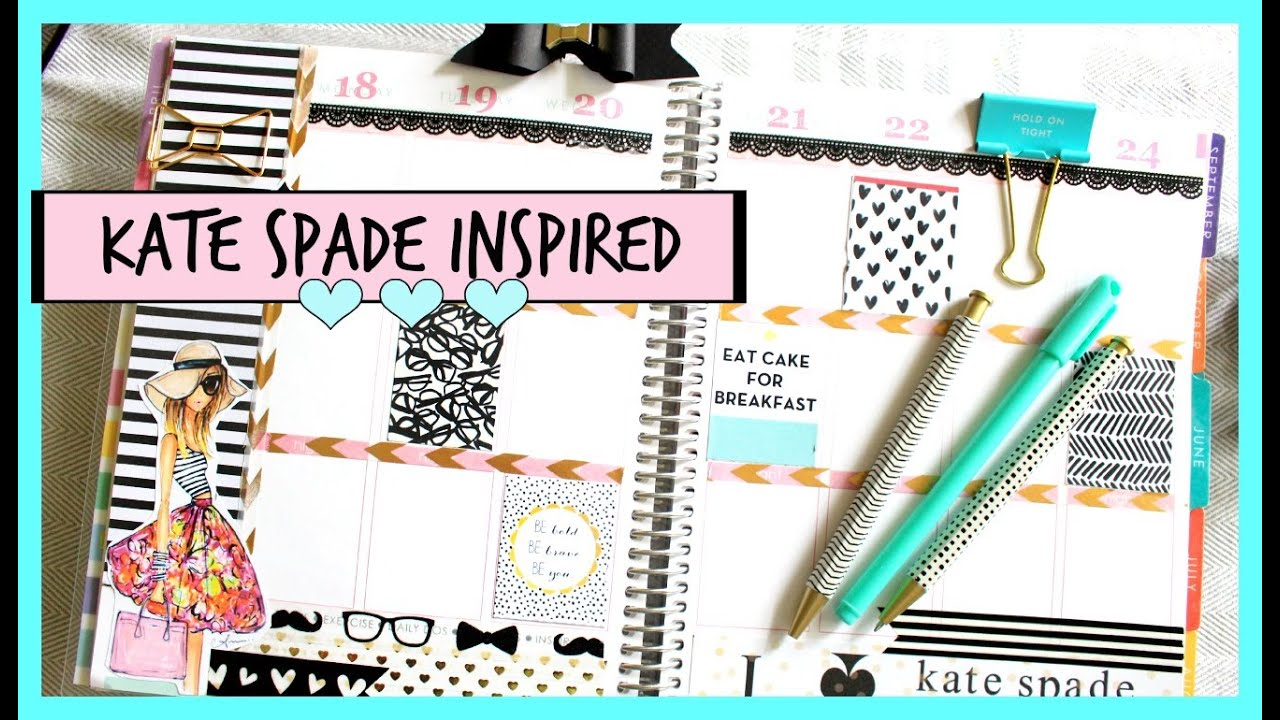Plan With Me Kate Spade Inspired Erin Condren Weekly