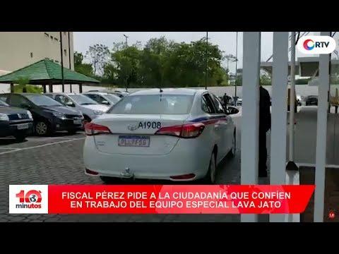 Fiscales del Equipo Especial Lava Jato rumbo a Brasil - 10 minutos Edición Tarde