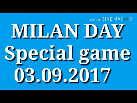 SPECIAL MILAN DAY GAME ONLY TODAY  2 ANK 2 JODI 8 PANNA