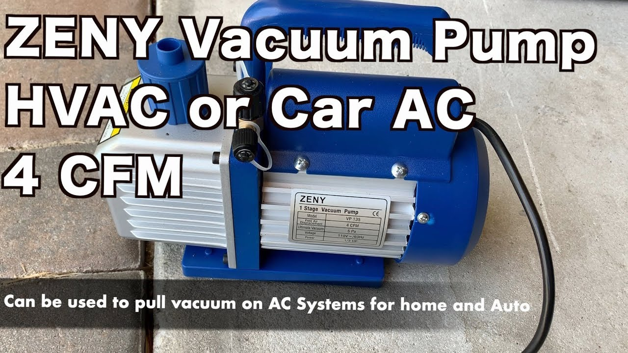 Zeny Vacuum Pump 4cfm 1 Stage Review Youtube