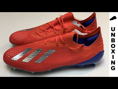 separation shoes ef26b 509ad adidas X 18.1 SG Exhibit - Action Red Silver Metallic Bold Blue