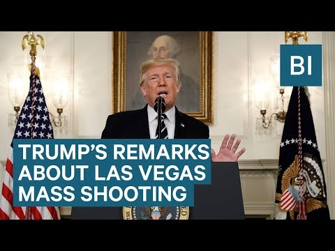 Watch President Trump's statement about the Las Vegas mass shooting