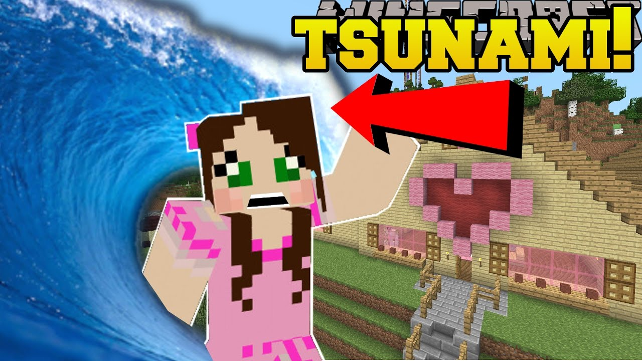 Minecraft Tsunamis Disasters That Destroy The World Mod