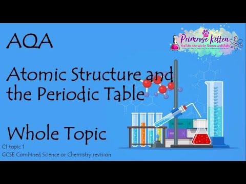 The Whole of AQA - ATOMIC STRUCTURE.  GCSE Chemistry or Combined Science Revision Topic 1 for C1