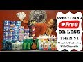 Extreme Couponing in Canada - Grocery haul with Coupons and Price matching - Free or $1 Less