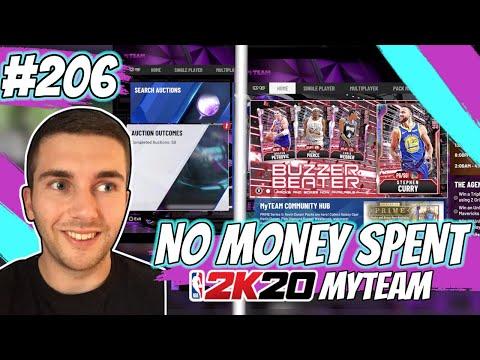 NBA 2K20 MYTEAM *NEW* BUZZER BEATER PROMO!! GALAXY OPAL STEPH CURRY!!   NO MONEY SPENT EPISODE #206