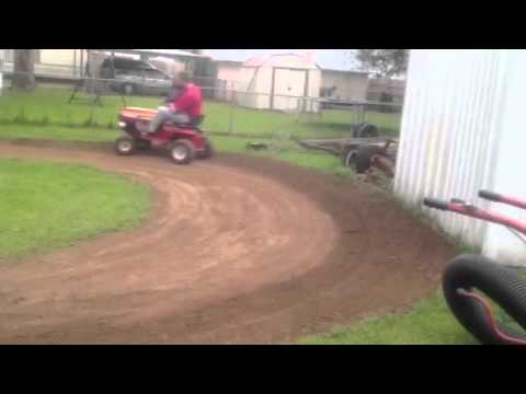 Building are rc track in back yard 4/4/12 - YouTube