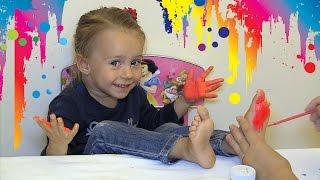 Пальчиковые Краски Для Детей - Рисование ладонью - Видео для детей(Сегодня Настя Рисует Пальчиковыми Красками для Детей. Рисование для Детей - одно из самых увлекательных..., 2016-09-15T22:28:28.000Z)