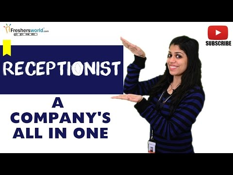 Job Roles For Receptionist – Front Desk Executive,Help Desk,Customer Service