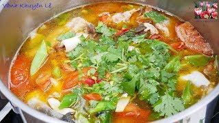 LẨU ĐẦU CÁ HỒI - Cách nấu Lẩu Bún Cá - Món ăn ngon, bổ dưỡng, nấu nhanh, ăn cũng lẹ by Vanh Khuyen