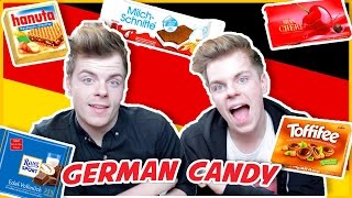 One of Niki and Sammy's most viewed videos: BRITISH TWINS TRY GERMAN CANDY FOR THE FIRST TIME | NikiNSammy