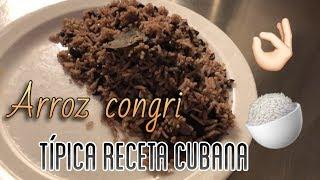 Típico y auténtico arroz congri cubano