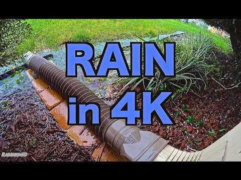 Rain Sounds in 4K   High Quality Audio + Video   HD 4K Resolution