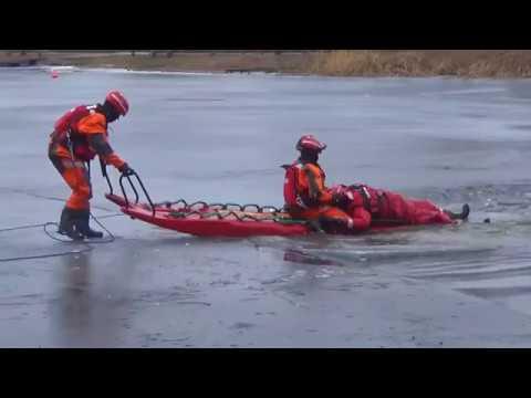OSP Swornegacie - ćwiczenia z ratownictwa lodowego
