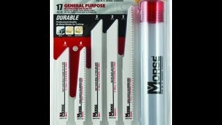 Mk Morse Rbkitgp01 General Purpose Reciprocating Blade Assortment With Storage Case, 17-piece