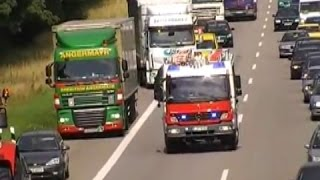 Fire, Police and EMS responding on German motorway