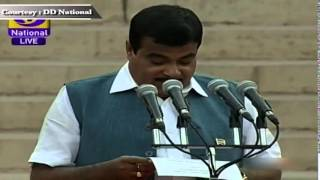Shri Nitin Gadkari sworn-in as Cabinet Minister in new Government