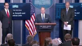 Trump's Tax Plan- White House Press Briefing -Full Event